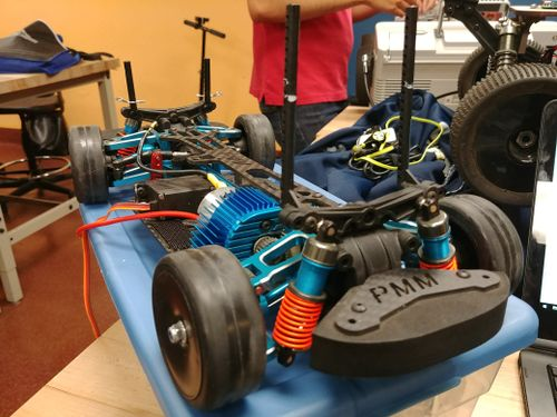 1/10 Scale Chassis with Brushed DC Motor